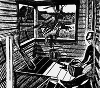 Пейзаж со всадником (Г.Ф. Захаров, 1964 г.)