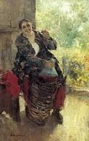 Женщина с вином (К.А. Коровин, 1897 г.)