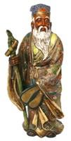 """Японская антикварная статуэтка одного из """"Семи Богов Счастья"""""""