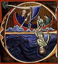 Иона и кит (Иллюстрация из Библии Совиньи)