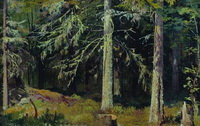 Еловый лес (И.И. Шишкин, 1890 г.)