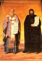 Фреска, изображающая Кирилла и Мефодия