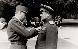 Вручение командорского креста ордена Почетного легиона В.Д. Соколовскому