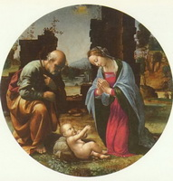 Поклонение Младенцу (Ф. Бартоломео, около 1510 г.)
