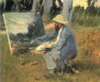 Клод Моне за работой на окраине леса