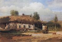 Саврасов А.К. Пейзаж с избушкой 1866