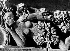 Ева (мастер Жильбер, рельеф, около 1135-1140 г.)