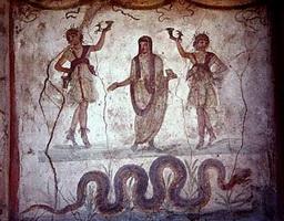 Стенная роспись из Виллы Мистерий в Помпеях