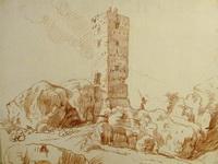 Франция. Развалины средневекового замка (Ю. Робер)