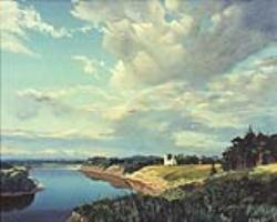 Картина маслом. Река Молома
