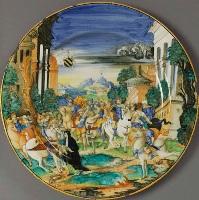 Итальянская майолика 16 века. Nicola da Urbino