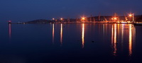 Феодосийский морской порт вечером